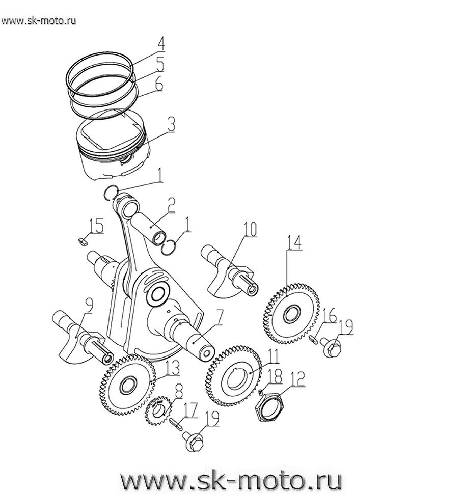LH700 13.5 CRANKSHAFT COMP