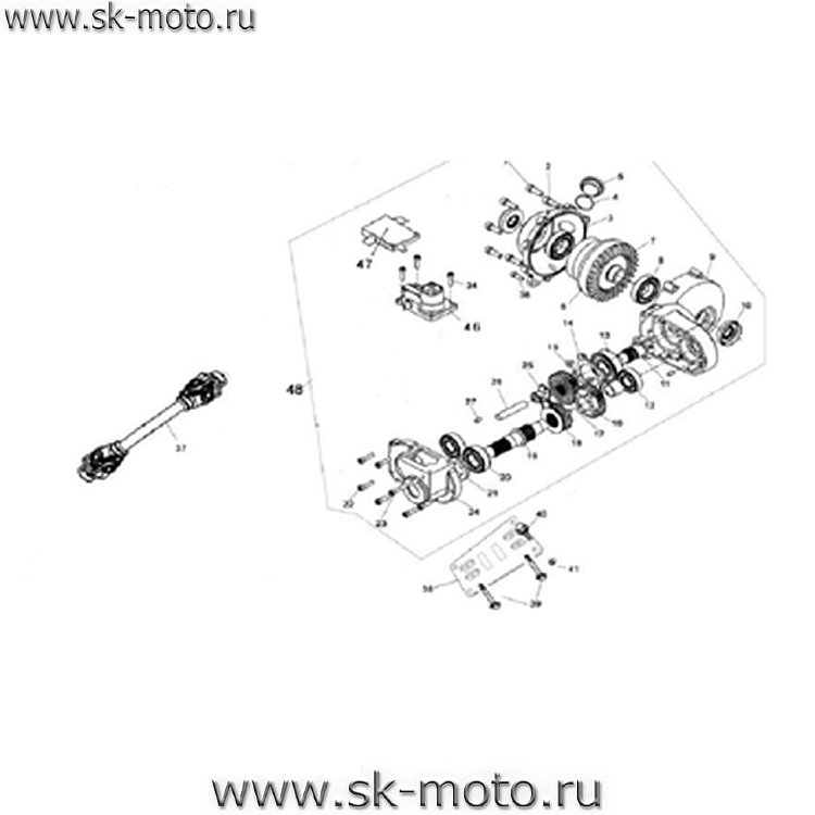 Схемы узлов и агрегатов ATV300-3D.