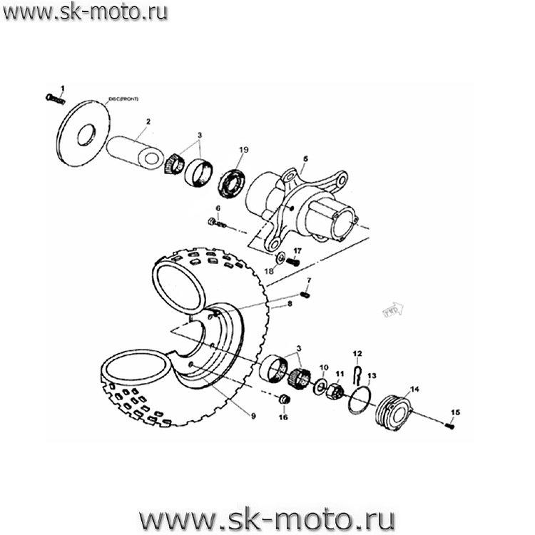 Схемы узлов и агрегатов ATV300-B.