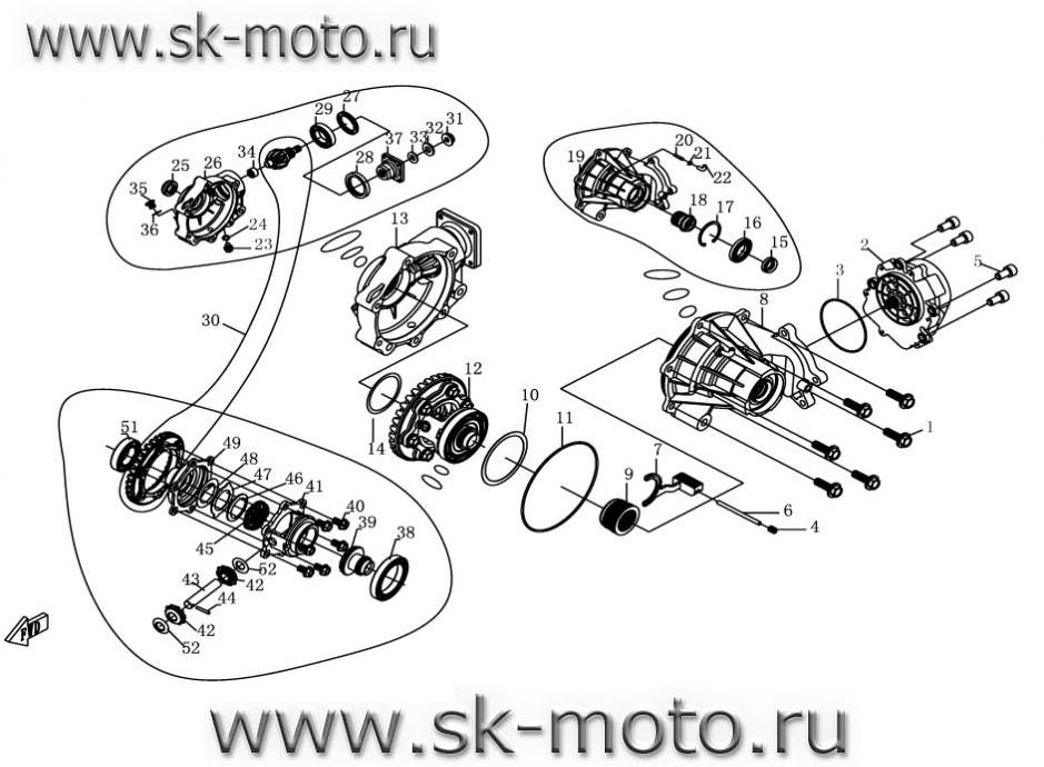 F31-1 ПЕРЕДНИЙ МОСТ (1)