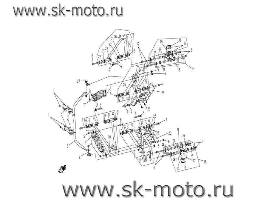 Схема F16 ПОДВЕСКА ЗАД