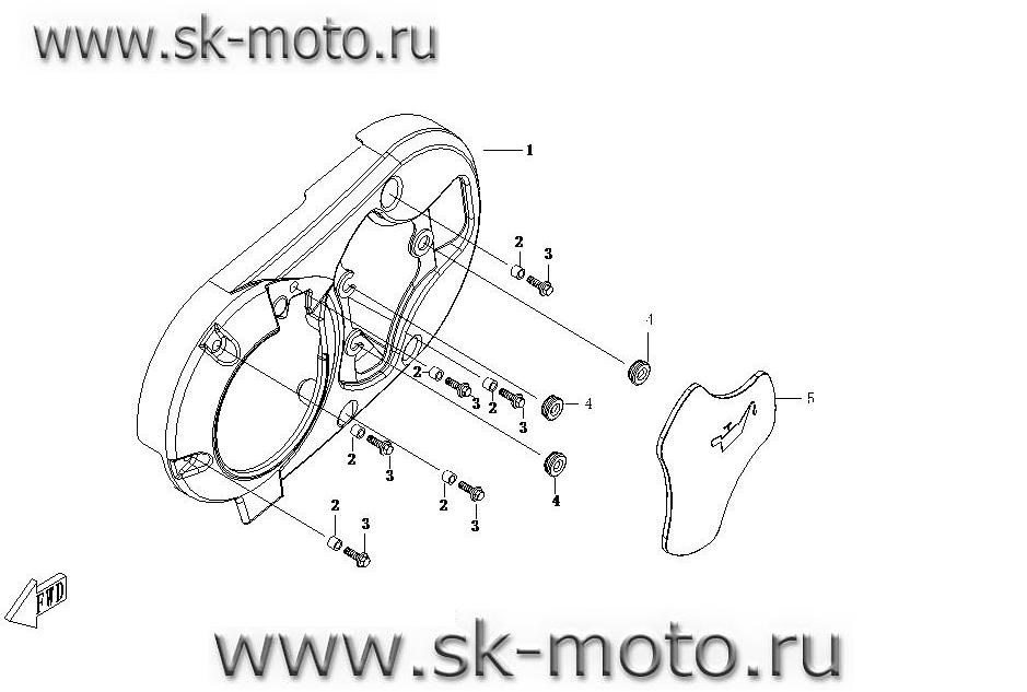 СХЕМА E06 левая облицовка