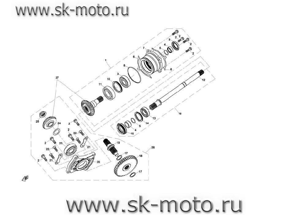 E23 Редуктор КПП