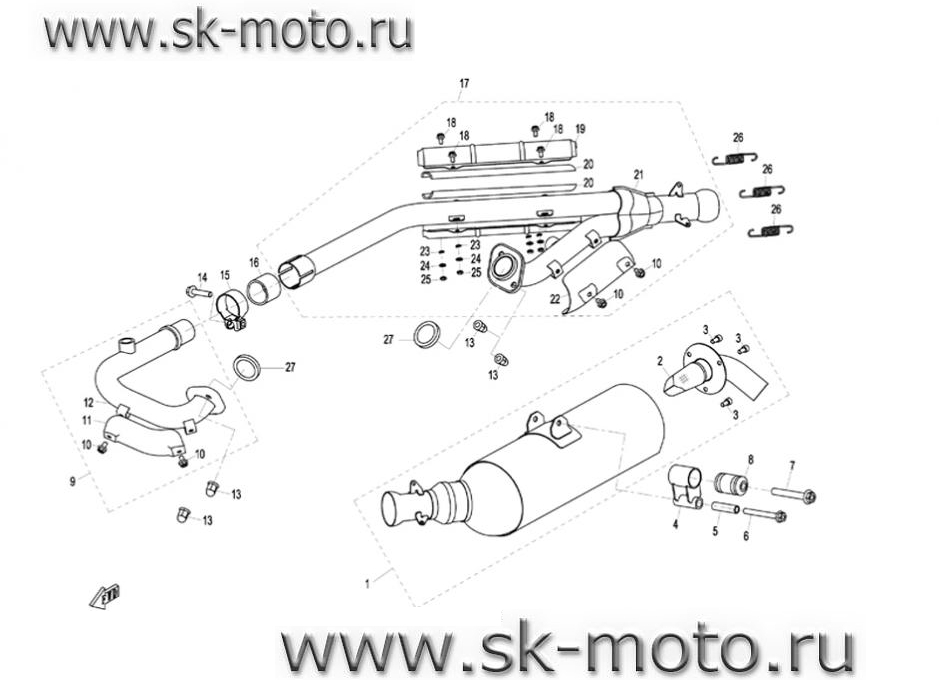схема cf moto 500
