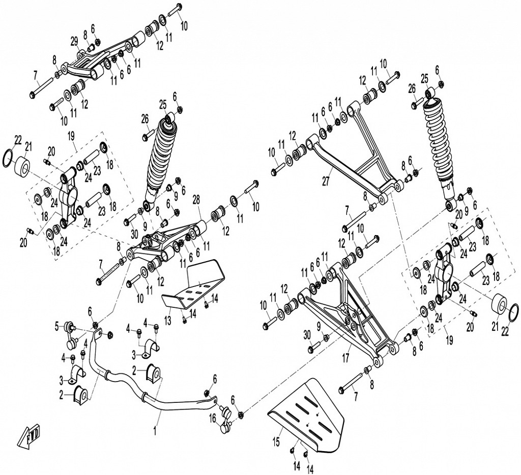 Схема F06 подвеска задняя