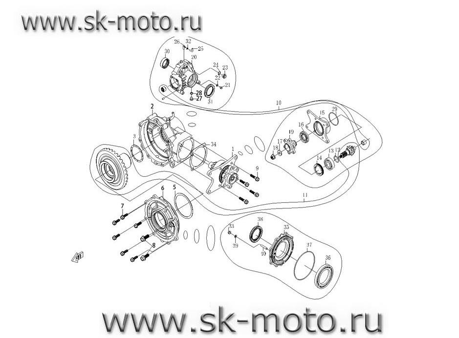Схема-каталог F33-1 ЗАДНИЙ